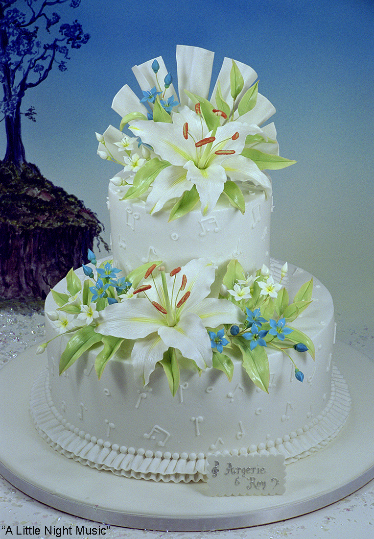 Cake And Sugar Art Nz : Wedding Cakes   World of Sugar Art
