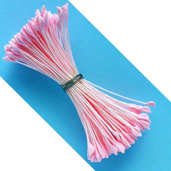Large Pink Folded Tip Stamens